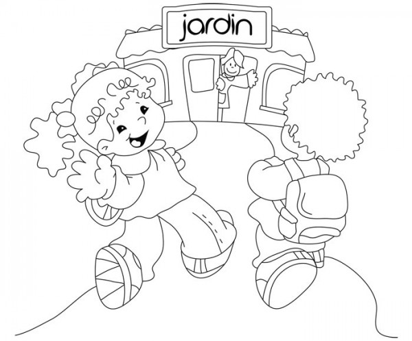Maestra infantil para colorear imagui for Jardin dibujo
