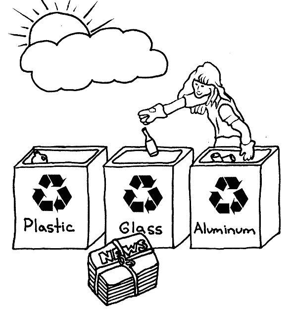 Dibujos Para Colorear De Reciclaje