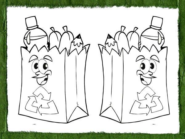 Dibujos para colorear en el Día del Reciclaje | Imágenes Totales