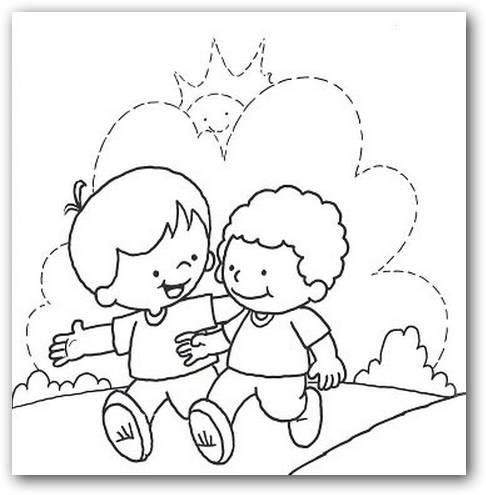 Dibujos para colorear en el Día del Amigo | Imágenes Totales