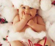 Imágenes tiernas de Navidad con Bebes