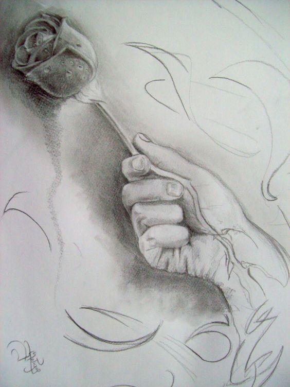 Imagenes De Dibujos A Lapiz De Amor Corazones Rosas Y Animales