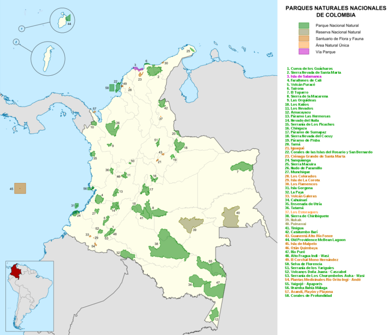 Mapa De Colombia Politico Regiones Relieve Para Colorear