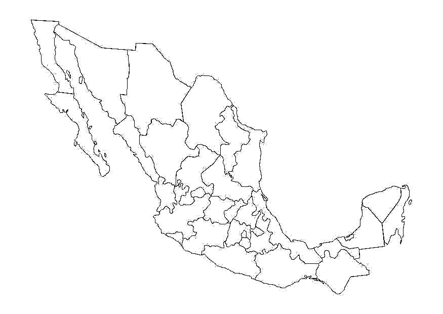 25 Hermoso Como Dibujar El Mapa De La Republica Mexicana