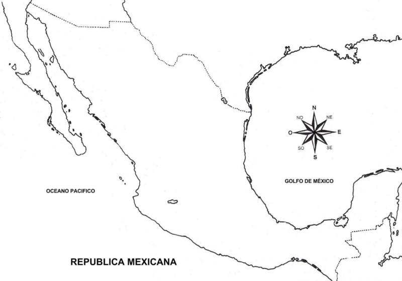 Mapa De México Con Nombres Capitales Y Estados Imágenes Totales