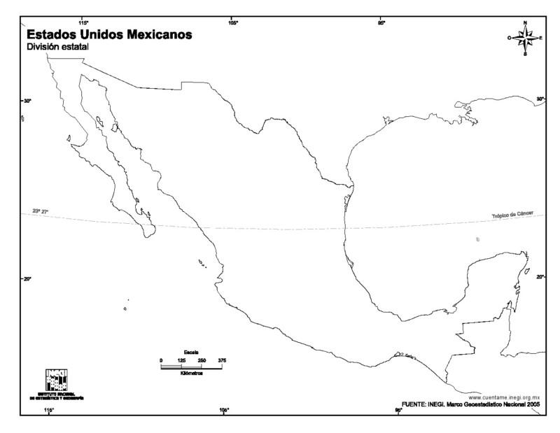 Mapa De Mexico Con Nombres Capitales Y Estados Imagenes Totales