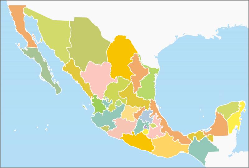 Mapa De México Con Nombres Capitales Y Estados Imágenes Totales - Mapa de mexico