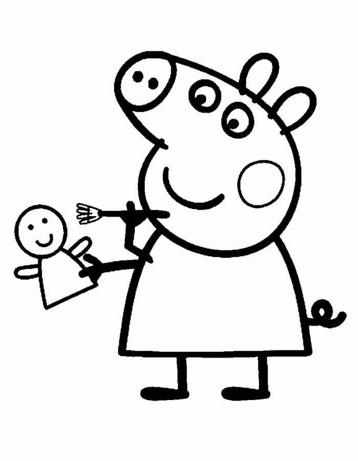 Imagenes Peppa Pig Para Colorear Dibujar E Imprimir Imagenes