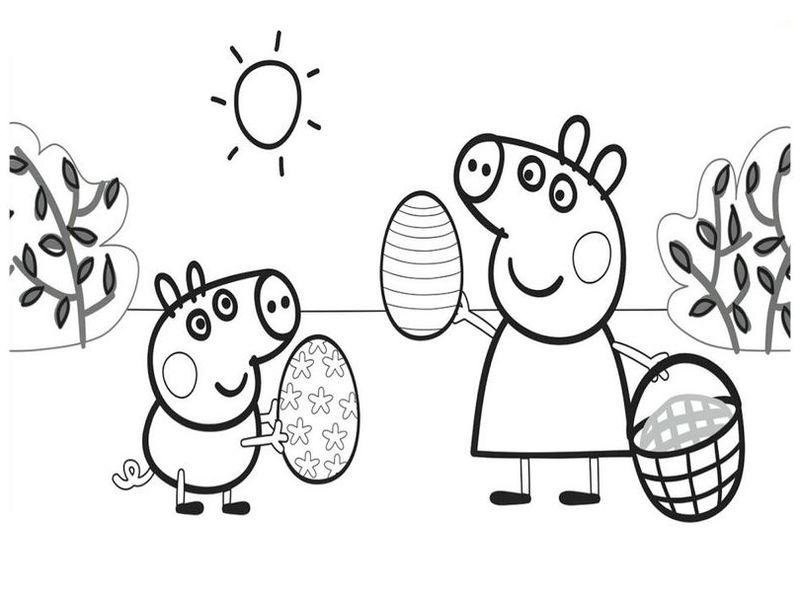 Imágenes Peppa Pig para colorear, dibujar e imprimir | Imágenes Totales