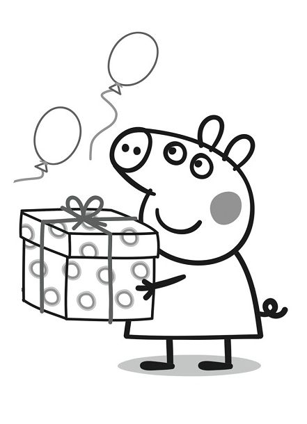 Imágenes Peppa Pig Para Colorear Dibujar E Imprimir Imágenes Totales