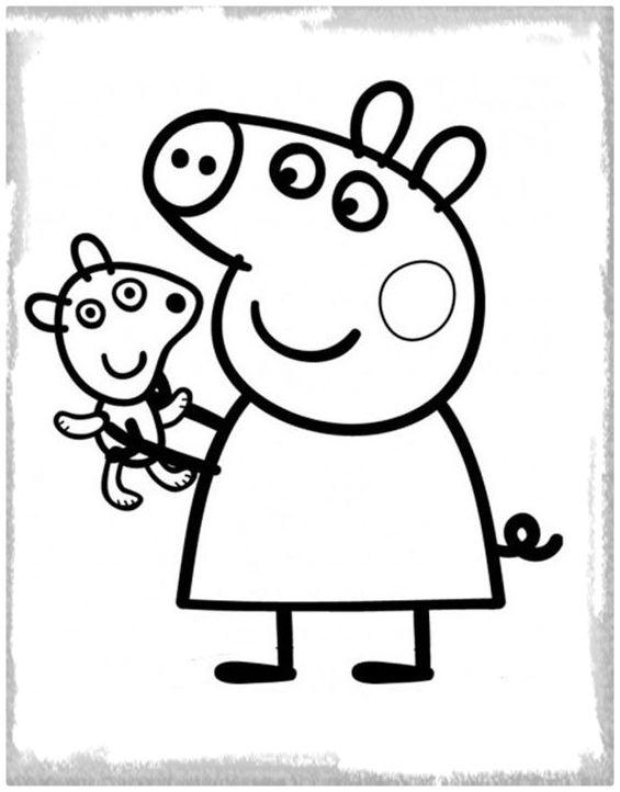 peppa pig para colorear. Durante a os Peppa pig ha mostrado demasiado aventuras por todas partes  Aqu te invitamos que lo acompa es partir de diferentes dibujos para colorear Im genes Pig dibujar e imprimir Totales