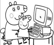 Imágenes Peppa Pig para colorear, dibujar e imprimir