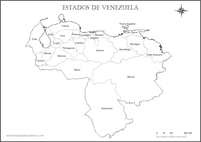 ▷ Mapas de Venezuela para Descargar e Imprimir con Regiones ...