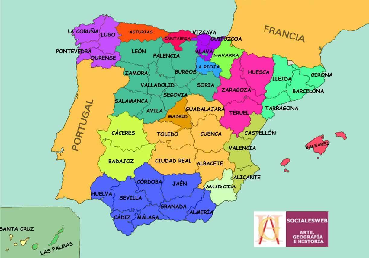 Mapas De Espana Politico Carreteras Costas Aeropuertos