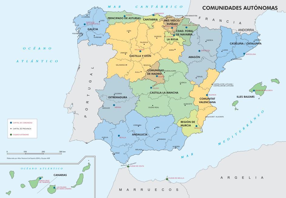 Provincias Mapa De España Carreteras.Mapas De Espana Politico Carreteras Costas Aeropuertos