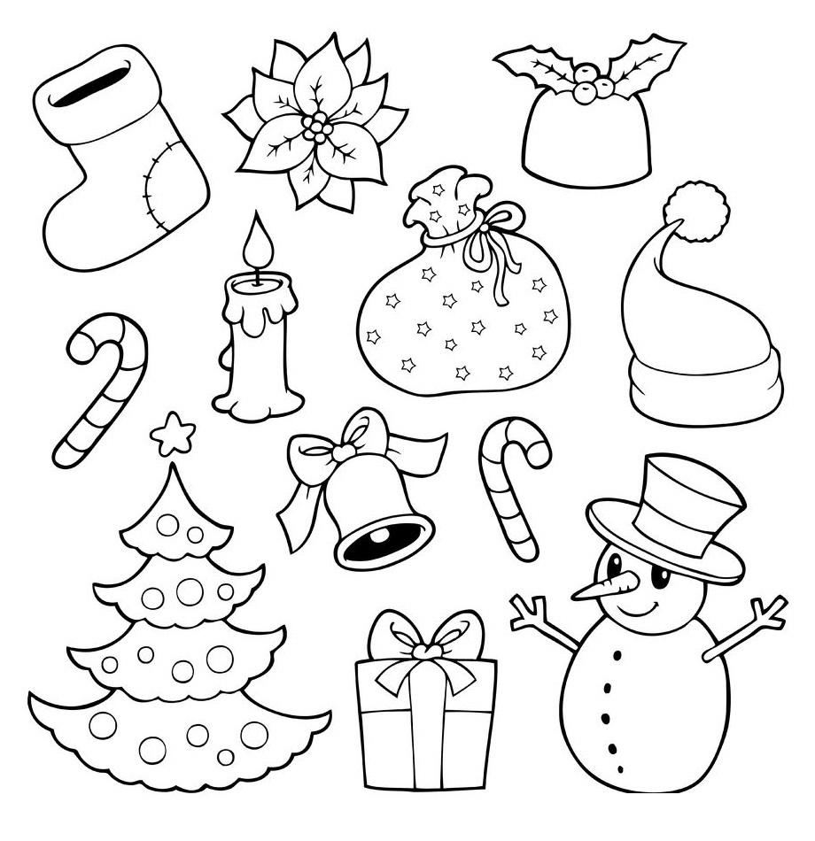 Bonitos Dibujos De Navidad Para Colorear Faciles.Dibujos Para Colorear Faciles De Dibujar Y Pintar Imagenes