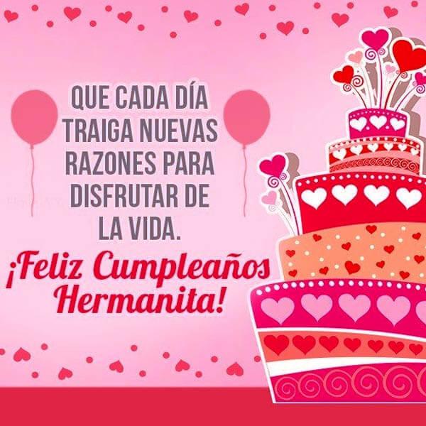 Mensaje De Feliz Cumpleanos Hermana.50 Imagenes De Feliz Cumpleanos Hermana Con Frases Y