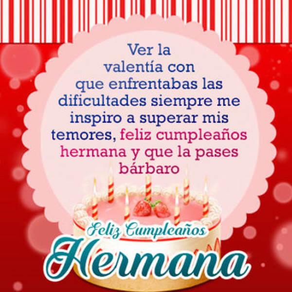 50 Imágenes De Feliz Cumpleaños Hermana Con Frases Y
