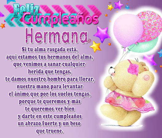 Postales De Feliz Cumpleanos Hermana.50 Imagenes De Feliz Cumpleanos Hermana Con Frases Y
