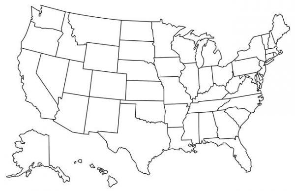 mapa-de-estados-unidos-para-colorear-sin-nombres-600×388 – Imágenes ...