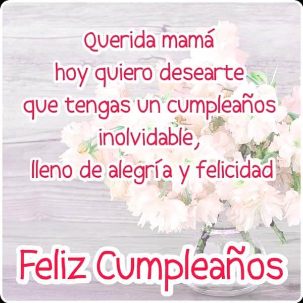 Imágenes de Feliz Cumpleaños Mamá, Frases y Mensajes Bonitos y ...