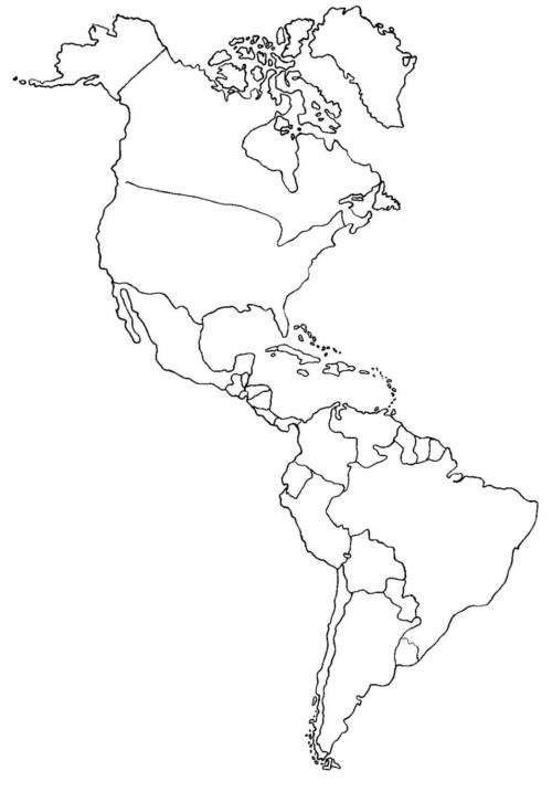 Mapa De América Político Regiones Relieve Para
