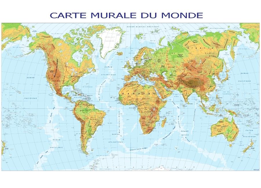 Mapa Del Mundo Politico Fisico Relieve Con Nombres Para