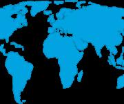Mapa del Mundo: político, físico, relieve, con nombres, para colorear