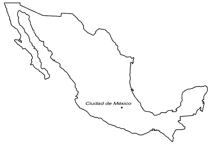 Mapas De México Con Nombres Ciudades Estados Capitales