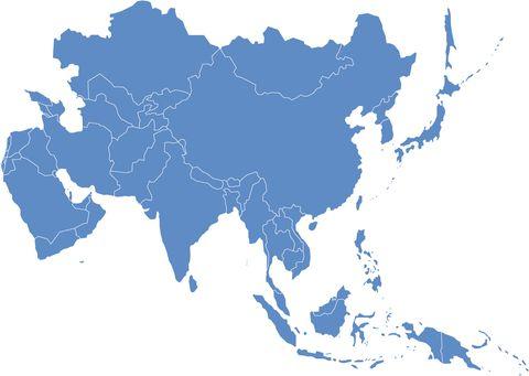 Mapa Mudo De Asia Relieve.Mapa De Asia Politico Regiones Relieve Para Colorear