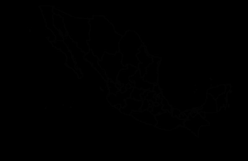 Mapa De México Político Regiones Relieve Para