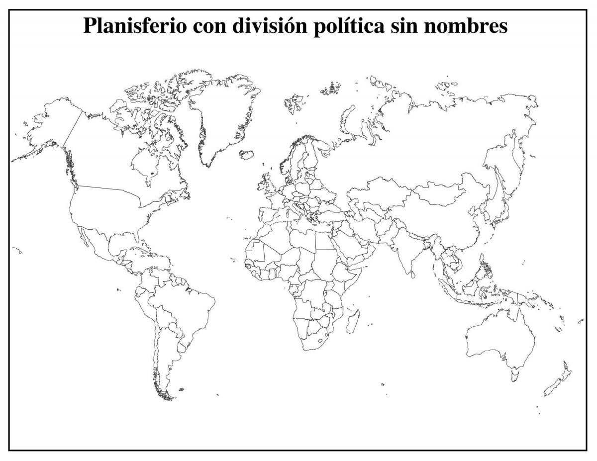 Mapamundi Político Mapas Para Descargar E Imprimir