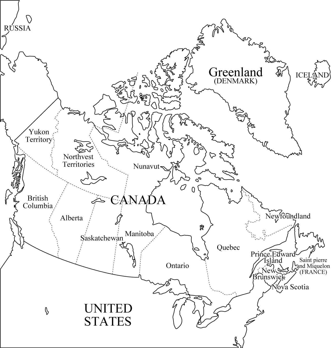 Mapa De Canada Politico Fisico Provincias Capitales