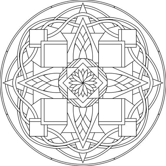 Mandala esférico y geométrico