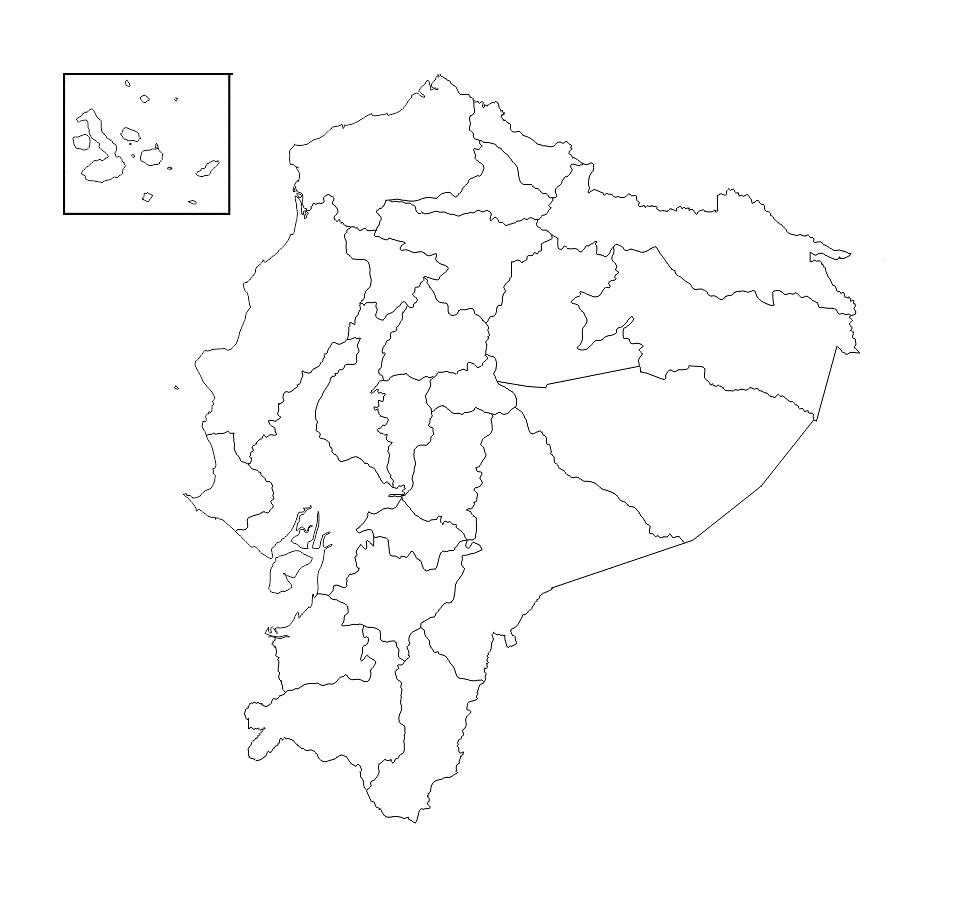 Mapa Del Ecuador Político Físico Regiones Provincias