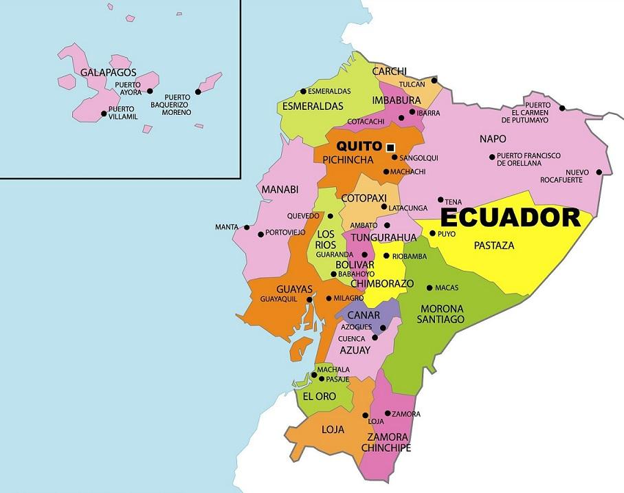 Mapa Del Ecuador Político Físico Regiones Provincias Capitales Para Colorear Imágenes Totales